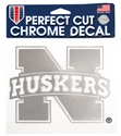 N Huskers 6 Inch Chrome Decal Nebraska Cornhuskers, Nebraska Vehicle, Huskers Vehicle, Nebraska Stickers Decals & Magnets, Huskers Stickers Decals & Magnets, Nebraska N Huskers 6 Inch Chrome Decal, Huskers N Huskers 6 Inch Chrome Decal
