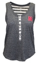 NU Striped Henley Tank Nebraska Cornhuskers, Nebraska  Ladies Tops, Huskers  Ladies Tops, Nebraska  Ladies T-Shirts, Huskers  Ladies T-Shirts, Nebraska  Ladies, Huskers  Ladies, Nebraska  Tank Tops, Huskers  Tank Tops, Nebraska NU Striped Henley Tank, Huskers NU Striped Henley Tank