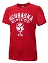 Nebraska All-Weather Fan Tee Nebraska Cornhuskers, Red Nebraska Tee, Huskers Football, Nebraska Allweather Fan Tee, Scott Frost