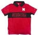 Nebraska Block Youth Polo Nebraska Cornhuskers, Nebraska  Youth, Huskers  Youth, Nebraska Polos, Huskers Polos, Nebraska Red Setter Stripe Youth SS Polo Col, Huskers Red Setter Stripe Youth SS Polo Col