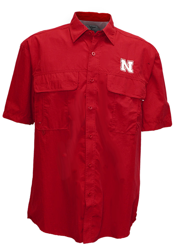 Nebraska Bruen Camp Shirt Nebraska Cornhuskers, Nebraska  Mens T-Shirts, Huskers  Mens T-Shirts, Nebraska  Mens Polo's, Huskers  Mens Polo's, Nebraska Nebraska Bruen Camp Shirt, Huskers Nebraska Bruen Camp Shirt