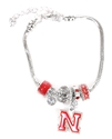 Nebraska Charm Bracelet Nebraska Cornhuskers, husker football, nebraska cornhuskers merchandise, nebraska merchandise, husker merchandise, nebraska cornhuskers apparel, husker apparel, nebraska apparel, husker womens apparel, nebraska cornhuskers womens apparel, nebraska womens apparel, husker womens merchandise, nebraska cornhuskers womens merchandise, womens nebraska accessories, womens husker accessories, womens nebraska cornhusker accessories,Nebraska N Huskers Charm Bracelet