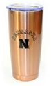 Nebraska Copper Viking Tumbler Nebraska Cornhuskers, Nebraska  Kitchen & Glassware, Huskers  Kitchen & Glassware, Nebraska Copper Stainless Steel Viking Tumbler MCM, Huskers Copper Stainless Steel Viking Tumbler MCM