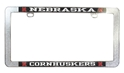 Nebraska Cornhuskers Metal Thin Frame Nebraska Cornhuskers, Nebraska Vehicle, Huskers Vehicle, Nebraska Black Nebraska Cornhuskers License Frame, Huskers Black Nebraska Cornhuskers License Frame