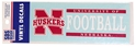Nebraska Football Horizontal Decal Nebraska Cornhuskers, Nebraska Vehicle, Huskers Vehicle, Nebraska Stickers Decals & Magnets, Huskers Stickers Decals & Magnets, Nebraska Nebraska Football Horizontal Decal, Huskers Nebraska Football Horizontal Decal