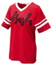 Nebraska Jersey Striped V-Neck Tee - AT-B7504