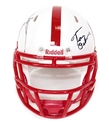 Nebraska Native Icons Mini Nebraska Cornhuskers, Nebraska  Former Players, Huskers  Former Players, Nebraska  Balls & Helmets, Huskers  Balls & Helmets, Nebraska Collectibles , Huskers Collectibles , Nebraska Autographed Mini Speed Helmet, Huskers Osborne Johnny Rodgers Autographed Mini Speed Helmet