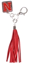 Nebraska Tassle Purse Charm Nebraska Cornhuskers, Nebraska  Bags Purses & Wallets, Huskers  Bags Purses & Wallets, Nebraska  Ladies Accessories, Huskers  Ladies Accessories, Nebraska  Ladies, Huskers  Ladies, Nebraska Red Tassle Purse Charm LE, Huskers Red Tassle Purse Charm LE