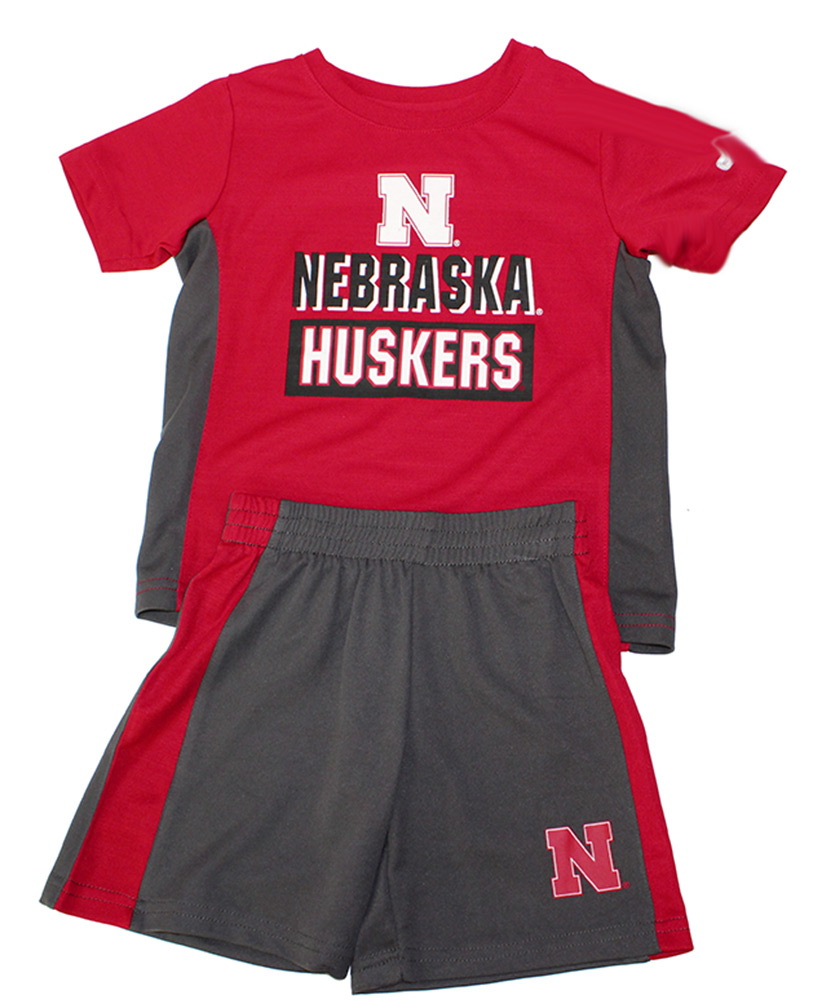 Nebraska Vault Toddler Tee and Short Set Nebraska Cornhuskers, Nebraska  Childrens, Huskers  Childrens, Nebraska  Kids, Huskers  Kids, Nebraska Nebraska Vault Toddler Tee and Short Set, Huskers Nebraska Vault Toddler Tee and Short Set