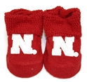 Husker Red Baby Booties Nebraska Cornhuskers, husker football, nebraska cornhuskers merchandise, nebraska merchandise, husker merchandise, nebraska cornhuskers apparel, husker apparel, nebraska apparel, husker infant and toddler apparel, nebraska cornhuskers infant and toddler apparel, nebraska kids apparel, husker kids apparel, husker kids merchandise, nebraska cornhuskers kids merchandise,Baby Booties