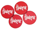 Set of 4 Neoprene Huskers Car Coasters Nebraska Cornhuskers, Nebraska Vehicle, Huskers Vehicle, Nebraska Set of 4 Neoprene Car Coasters Boelter, Huskers Set of 4 Neoprene Car Coasters Boelter