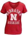 Showtime Husker V Neck Nebraska Cornhuskers, Nebraska  Ladies Tops, Huskers  Ladies Tops, Nebraska  Ladies T-Shirts, Huskers  Ladies T-Shirts, Nebraska  Ladies, Huskers  Ladies, Nebraska  Short Sleeve, Huskers  Short Sleeve, Nebraska Red W SS Vneck Distressed Champ Tee, Huskers Red W SS Vneck Distressed Champ Tee