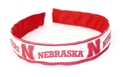 Wide Husker Headband Nebraska Cornhuskers, Nebraska  Ladies Accessories, Huskers  Ladies Accessories, Nebraska  Head Bands, Huskers  Head Bands, Nebraska Polka Dot Headband, Huskers Headband