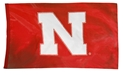 XLarge Nebraska Home Game Flag Nebraska Cornhuskers, Red Game Day Flag Grommets, N