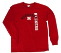 Youth Arch Nebraska LS Nebraska Cornhuskers, Nebraska  Youth, Huskers  Youth, Nebraska  Kids, Huskers  Kids, Nebraska  Long Sleeve, Huskers  Long Sleeve, Nebraska Youth Arch Nebraska LS , Huskers Youth Arch Nebraska LS