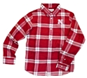 Youth Husker Hans Flannel Button Down Nebraska Cornhuskers, Nebraska  Youth, Huskers  Youth, Nebraska Youth Husker Hans Flannel Button Down, Huskers Youth Husker Hans Flannel Button Down