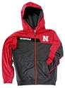 Youth Nebraska Jacknife Jacket Nebraska Cornhuskers, Nebraska  Youth, Huskers  Youth, Nebraska Outerwear, Huskers Outerwear, Nebraska Full Zip Jacknife Red Gray Jacket Col, Huskers Full Zip Jacknife Red Gray Jacket Col