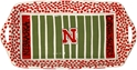 Huskers Football Field Serving Platter Nebraska Cornhuskers, Football Field Serving Platter