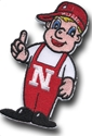 3 Inch Lil Red Patch Nebraska Cornhuskers, Lil Red Patch 3 inch
