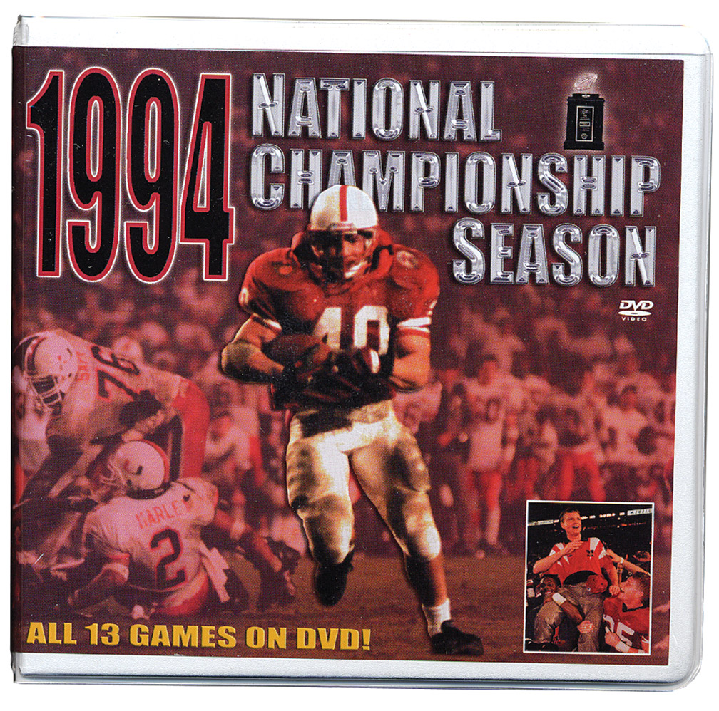 94' Champ Season Dvd Box Set Husker football, Nebraska cornhuskers merchandise, husker merchandise, nebraska merchandise, nebraska cornhuskers dvd, husker dvd, nebraska football dvd, nebraska cornhuskers videos, husker videos, nebraska football videos, husker game dvd, husker bowl game dvd, husker dvd subscription, nebraska cornhusker dvd subscription, husker football season on dvd, nebraska cornhuskers dvd box sets, husker dvd box sets, Nebraska Cornhuskers, 1994 Championship Season DVD Box Set