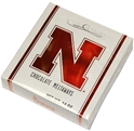 Huskers Bakers Chocolates 12 oz Box Nebraska Cornhuskers, Bakers Candy Box