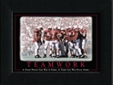 Husker Teamwork Framed Nebraska Cornhuskers, Teamwork Framed