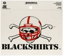 Blackshirts Static Cling Nebraska Cornhuskers, Blackshirts Static Cling