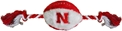 Husker Plush Football Rope Toy Nebraska Cornhuskers, husker football, nebraska merchandise, husker merchandise, nebraska cornhusker merchandise, nebraska cornhuskers pet items, husker pet items, husker chew toy, nebraska chew toy, Plush Football Rope Toy, Dog Chew Toy