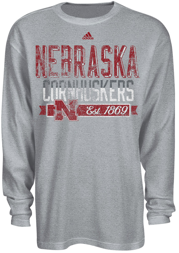 Adidas Gymnasium Grey Thermal Nebraska Cornhuskers, husker football, nebraska cornhuskers merchandise, nebraska merchandise, husker merchandise, nebraska cornhuskers apparel, husker apparel, nebraska apparel, husker mens apparel, nebraska cornhuskers mens apparel, nebraska mens apparel, husker mens merchandise, nebraska cornhuskers mens merchandise, mens nebraska t shirt, mens husker t shirt, mens nebraska cornhusker t shirt,Adidas Gymnasium Grey Thermal