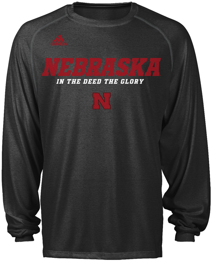 Adidas Climalite Long Sleeve Sideline 12 Nebraska Cornhuskers, husker football, nebraska cornhuskers merchandise, nebraska merchandise, husker merchandise, nebraska cornhuskers apparel, husker apparel, nebraska apparel, husker mens apparel, nebraska cornhuskers mens apparel, nebraska mens apparel, husker mens merchandise, nebraska cornhuskers mens merchandise, mens nebraska t shirt, mens husker t shirt, mens nebraska cornhusker t shirt,Adidas Climalite Long Sleeve Sideline 12