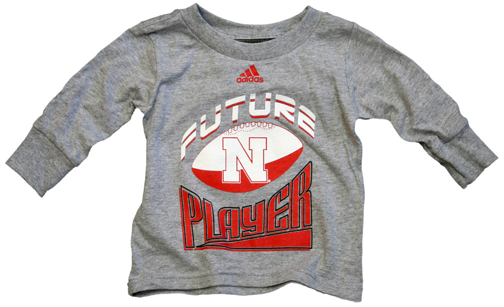 Adidas Infant  Long Sleeve T-shirt Future Champ Nebraska Cornhuskers, husker football, nebraska cornhuskers merchandise, nebraska merchandise, husker merchandise, nebraska cornhuskers apparel, husker apparel, nebraska apparel, husker infant and toddler apparel, nebraska cornhuskers infant and toddler apparel, nebraska kids apparel, husker kids apparel, husker kids merchandise, nebraska cornhuskers kids merchandise,Adidas Infant  Long Sleeve T-shirt Future Champ