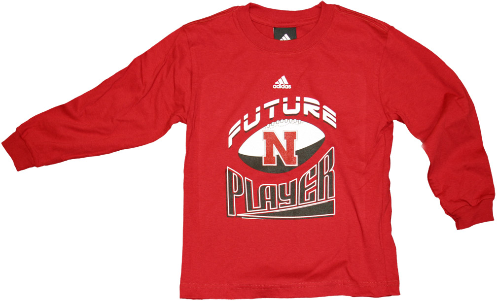 Adidas Child Long Sleeve T-shirt Future Champ Nebraska Cornhuskers, husker football, nebraska cornhuskers merchandise, nebraska merchandise, husker merchandise, nebraska cornhuskers apparel, husker apparel, nebraska apparel, husker childrens apparel, nebraska cornhuskers childrens apparel, nebraska kids apparel, husker kids apparel, husker kids merchandise, nebraska cornhuskers kids merchandise,Adidas Child Long Sleeve T-shirt Future Champ