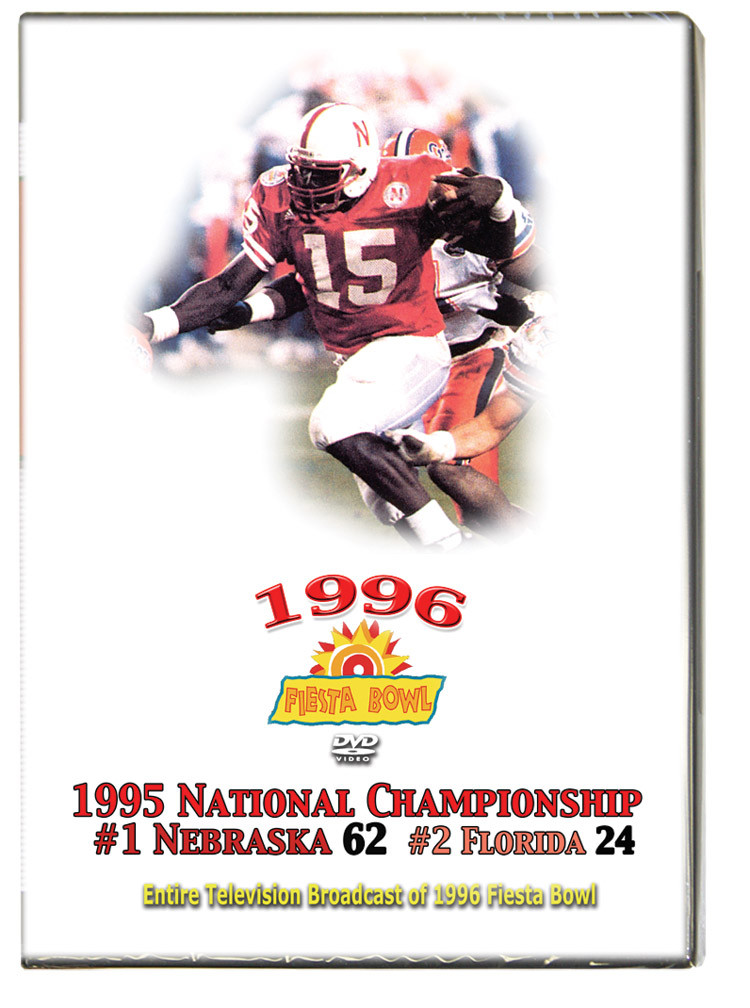 1996 Fiesta Bowl TV Broadcast on DVD Husker football, Nebraska cornhuskers merchandise, husker merchandise, nebraska merchandise, nebraska cornhuskers dvd, husker dvd, nebraska football dvd, nebraska cornhuskers videos, husker videos, nebraska football videos, husker game dvd, husker bowl game dvd, husker dvd subscription, nebraska cornhusker dvd subscription, husker football season on dvd, nebraska cornhuskers dvd box sets, husker dvd box sets, Nebraska Cornhuskers, 1996 Fiesta Bowl TV Broadcast on DVD