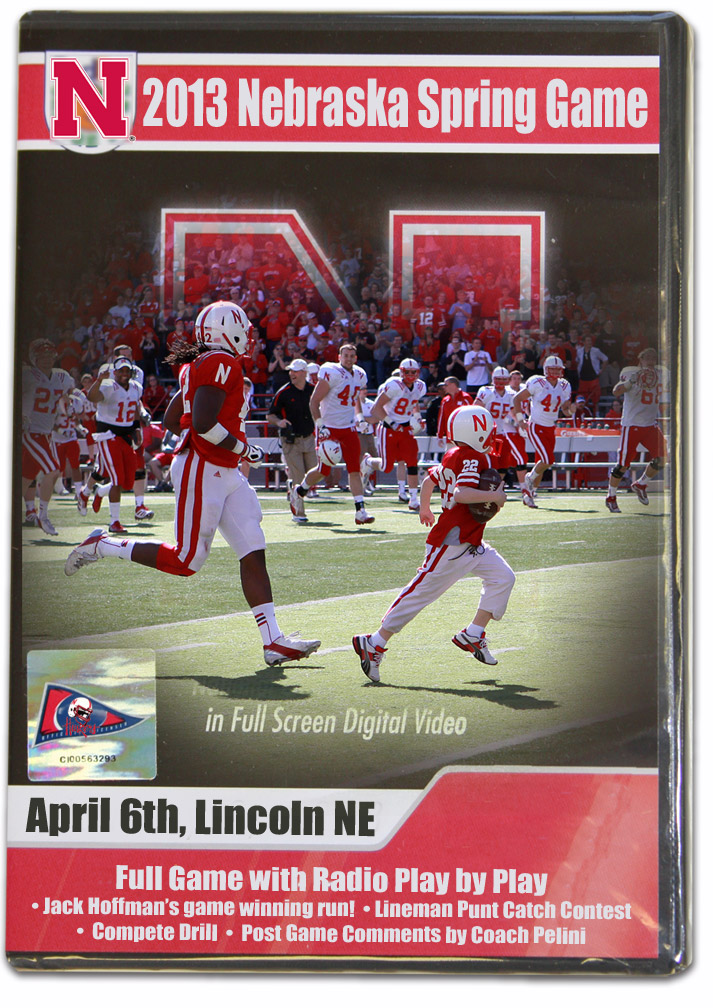 2013 Spring Game DVD Featuring Jack's Run! Husker football, Nebraska cornhuskers merchandise, husker merchandise, nebraska merchandise, nebraska cornhuskers dvd, husker dvd, nebraska football dvd, nebraska cornhuskers videos, husker videos, nebraska football videos, husker game dvd, husker bowl game dvd, husker dvd subscription, nebraska cornhusker dvd subscription, husker football season on dvd, nebraska cornhuskers dvd box sets, husker dvd box sets, Nebraska Cornhuskers, 2013 Spring Game Featuring Jack's Run!