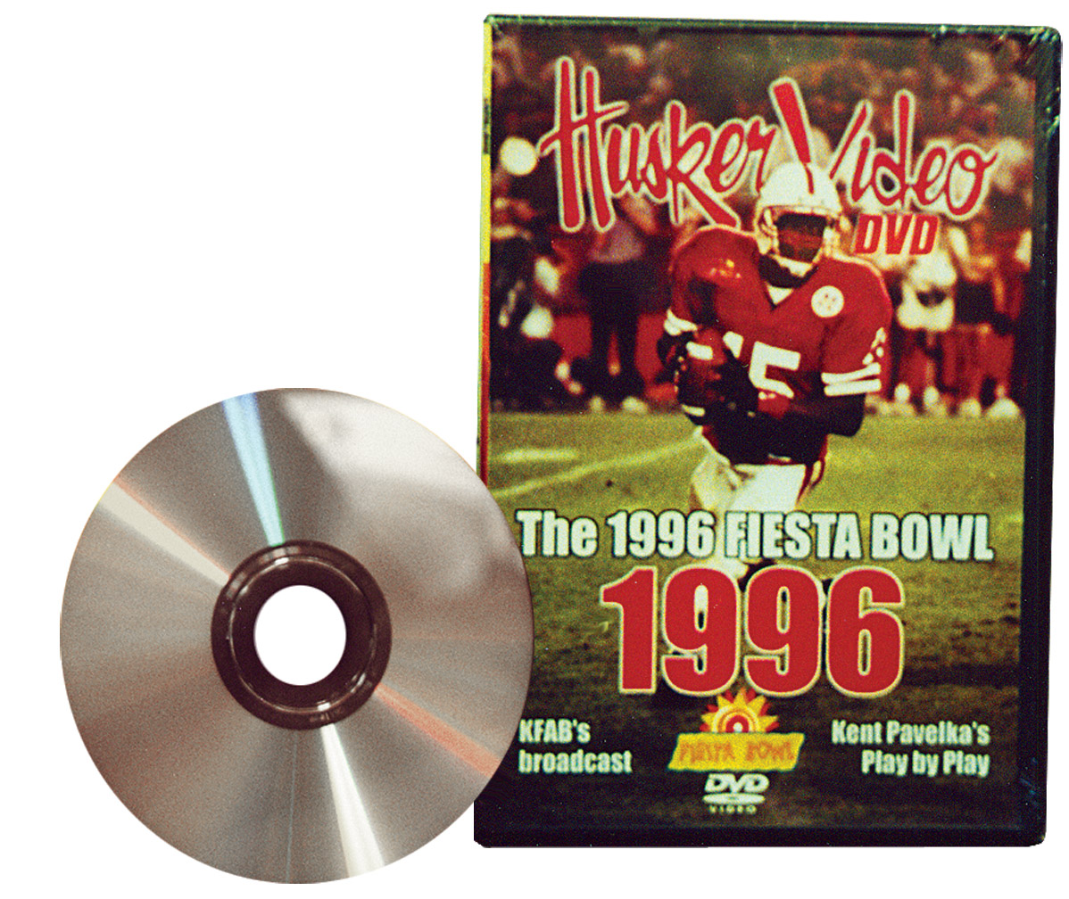 1996 Fiesta Bowl, Husker Vision Footage Husker football, Nebraska cornhuskers merchandise, husker merchandise, nebraska merchandise, nebraska cornhuskers dvd, husker dvd, nebraska football dvd, nebraska cornhuskers videos, husker videos, nebraska football videos, husker game dvd, husker bowl game dvd, husker dvd subscription, nebraska cornhusker dvd subscription, husker football season on dvd, nebraska cornhuskers dvd box sets, husker dvd box sets, Nebraska Cornhuskers, 1996 Fiesta Bowl, Husker Vision Footage