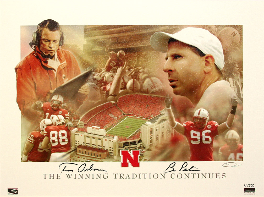 The Winning Tradition Continues Nebraska Cornhuskers, husker football, nebraska cornhuskers merchandise, husker merchandise, nebraska merchandise, husker memorabilia, husker autographed, nebraska cornhuskers autographed, Tom Osborne autographed, Tom Osborne signed, Tom Osborne collectible, Tom Osborne, Bo Pelini autographed, Bo Pelini signed, Bo Pelini memorabilia, Pelini and Osborne autographed, Pelini and Osborne signed, nebraska cornhuskers memorabilia, nebraska cornhuskers collectible, The Winning Tradition Continues