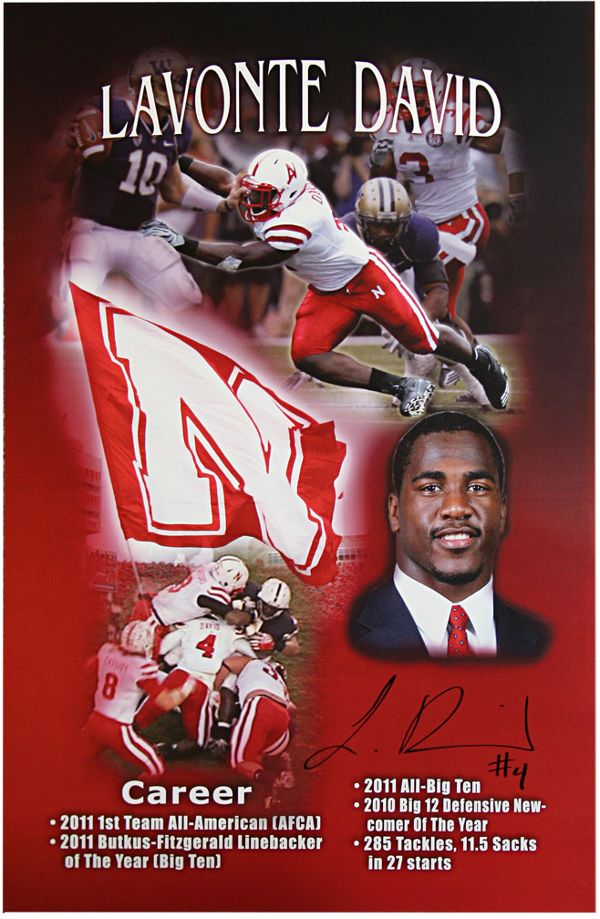 Autographed Lavonte David Print Nebraska Cornhuskers, husker football, nebraska cornhuskers merchandise, husker merchandise, nebraska merchandise, husker memorabilia, husker autographed, nebraska cornhuskers autographed, nebraska cornhuskers memorabilia, nebraska cornhuskers collectible, Autographed Lavonte David Print