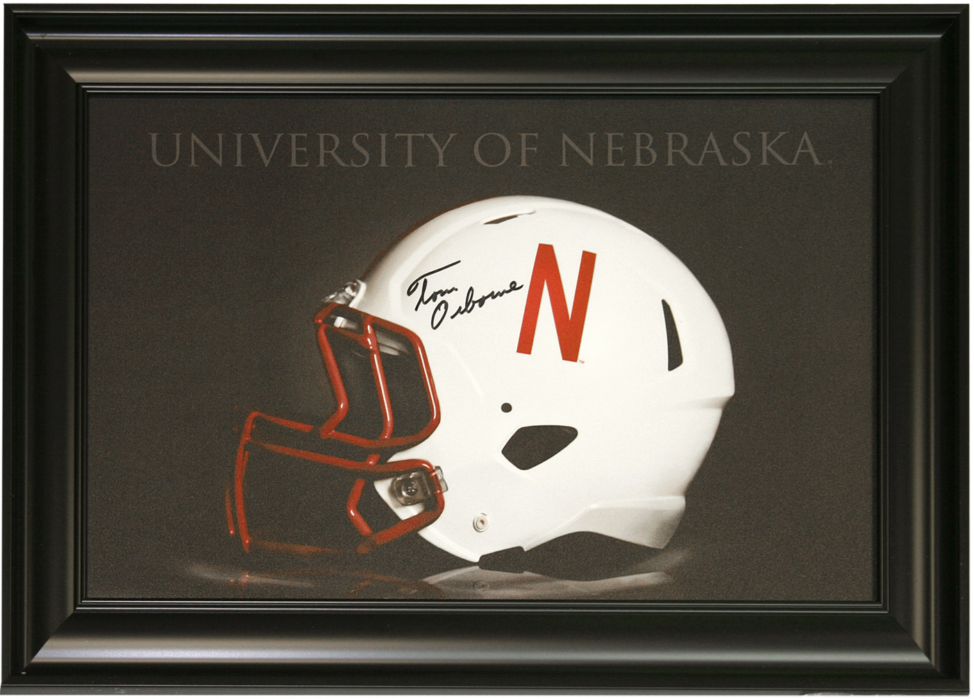 Framed Autographed Speed Helmet Print Nebraska Cornhuskers, husker football, nebraska cornhuskers merchandise, husker merchandise, nebraska merchandise, husker memorabilia, husker autographed, nebraska cornhuskers autographed, Tom Osborne autographed, Tom Osborne signed, Tom Osborne collectible, Tom Osborne, nebraska cornhuskers memorabilia, nebraska cornhuskers collectible,