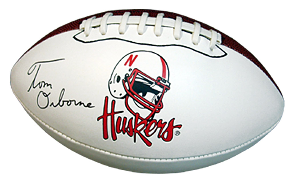 Osborne Autographed Ball Nebraska Cornhuskers, husker football, nebraska cornhuskers merchandise, husker merchandise, nebraska merchandise, husker memorabilia, husker autographed, nebraska cornhuskers autographed, Tom Osborne autographed, Tom Osborne signed, Tom Osborne collectible, Tom Osborne, nebraska cornhuskers memorabilia, nebraska cornhuskers collectible, Osborne Autographed Ball