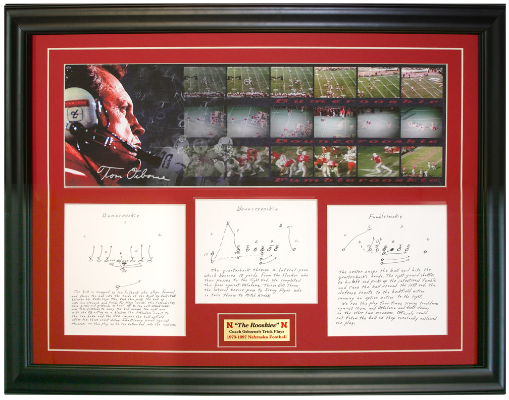 Coach Osborne's Rooskie's Plaque Nebraska Cornhuskers, husker football, nebraska cornhuskers merchandise, husker merchandise, nebraska merchandise, husker memorabilia, husker autographed, nebraska cornhuskers autographed, Tom Osborne autographed, Tom Osborne signed, Tom Osborne collectible, Tom Osborne, nebraska cornhuskers memorabilia, nebraska cornhuskers collectible,  Rooskie's Plaque, Rooskies Plaque