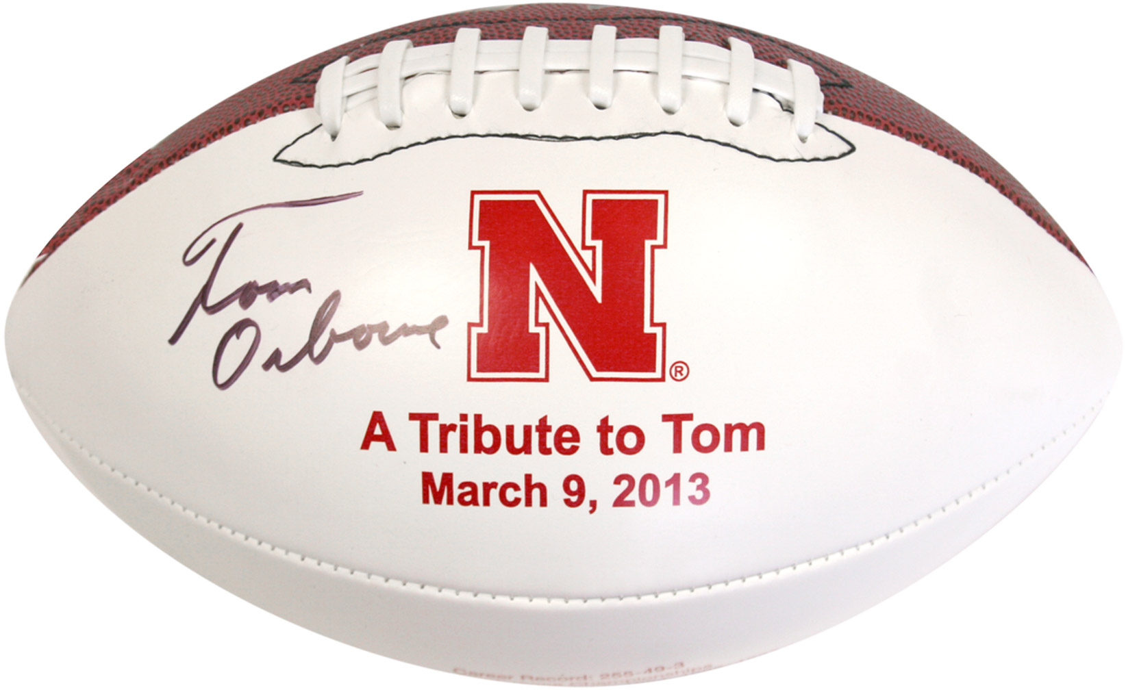 Tom Osborne Tribute Football Nebraska Cornhuskers, husker football, nebraska cornhuskers merchandise, husker merchandise, nebraska merchandise, husker memorabilia, husker autographed, nebraska cornhuskers autographed, Tom Osborne autographed, Tom Osborne signed, Tom Osborne collectible, Tom Osborne, nebraska cornhuskers memorabilia, nebraska cornhuskers collectible, Tom Osborne Tribute Football