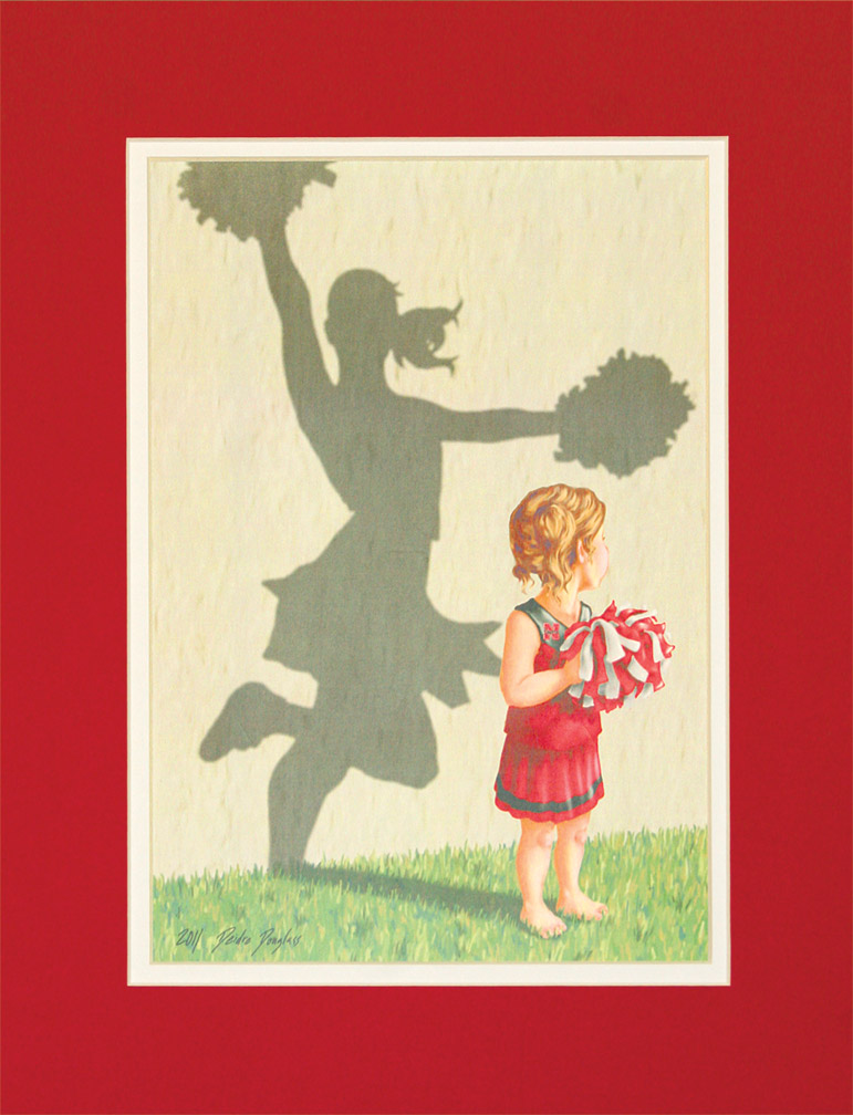 Team Tots Girl Matted Print Nebraska Cornhuskers, Team Tots Girl Matted Print