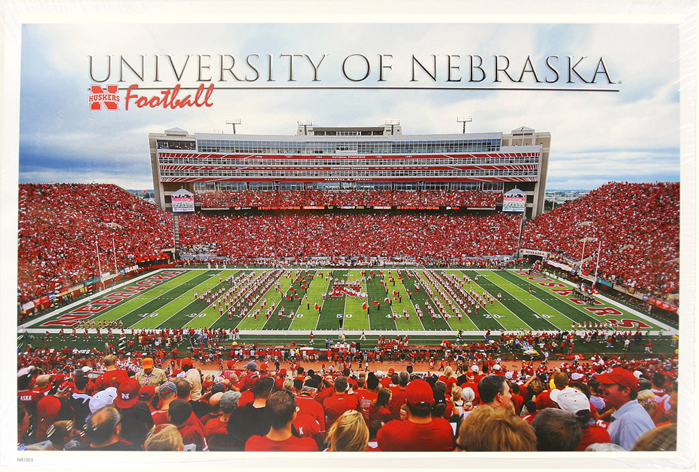 Distinguished Stadium Print Nebraska Cornhuskers, Distinguished Stadium Print