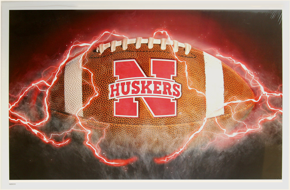 Football Ignition Print Nebraska Cornhuskers, Football Ignition Print