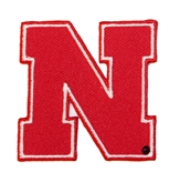 2 Inch Red N Huskers Patch