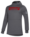 Adidas 2019 Official Sideline Game Mode Huskers Hoodie - Grey