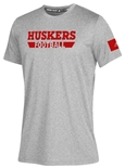 Adidas Huskers Football Locker Amped Tee - Gray