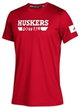 Adidas Huskers Football Locker Amped Tee - Red
