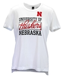 Adidas Ladies Nebraska Football Yola Tee