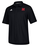 Adidas Nebraska Button Down Polo - Black